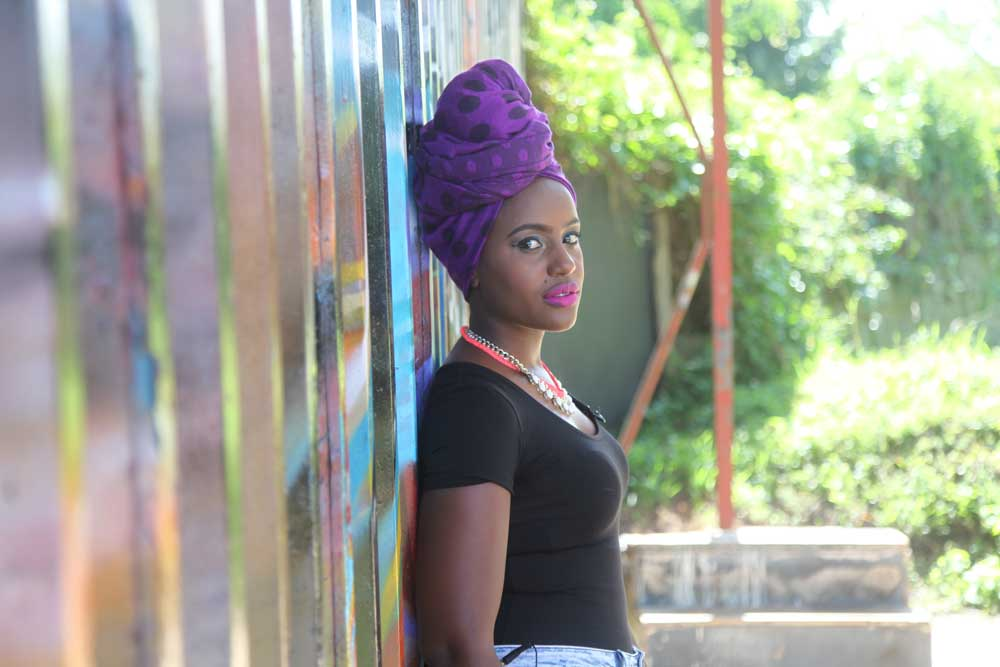 Femi One at the BAQE Wall
